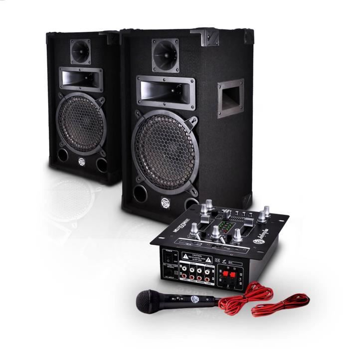 mydeejay mdj 150 pack sono 150w table de mixage amplifi e 2 enceintes sono pack sono avis. Black Bedroom Furniture Sets. Home Design Ideas