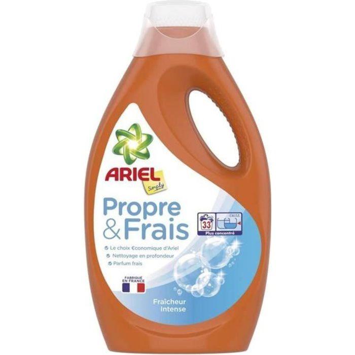 LESSIVE Ariel Liquide Simply Intense 1,100L (lot de 2)