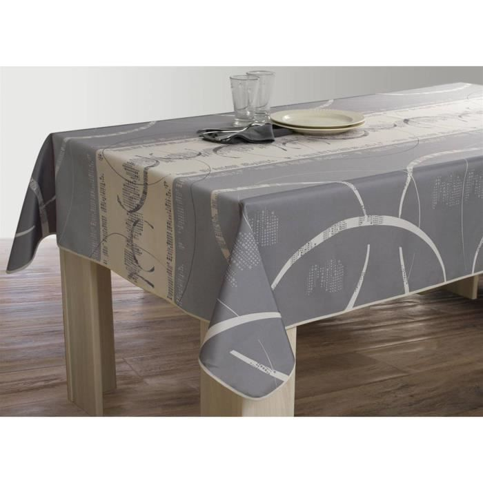 nappe anti taches rectangulaire 150x200 cm astrid ecru achat vente nappe de table cdiscount. Black Bedroom Furniture Sets. Home Design Ideas