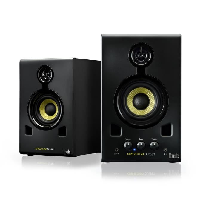 hercules xps 2 0 60 dj set enceintes multim dia enceinte et retour avis et prix pas cher. Black Bedroom Furniture Sets. Home Design Ideas
