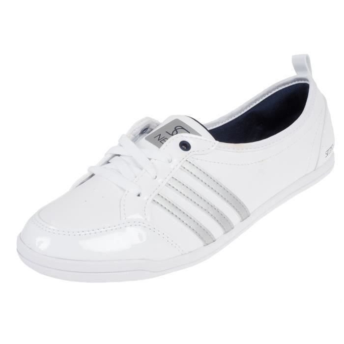 adidas neo femme blanche et rose