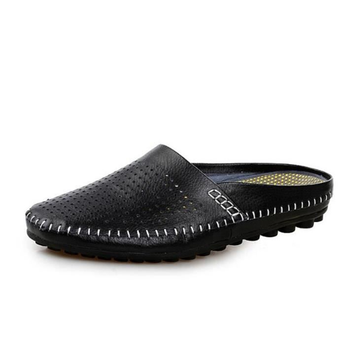 chaussures homme Confortable Antidérapant Moccasin Marque De Luxe Moccasin hommes Grande Taille Loafer En Cuir Nouvelle Mode ete