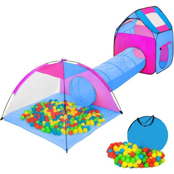 Tente enfant tente balles igloo piscine balles for Tunnel pour piscine