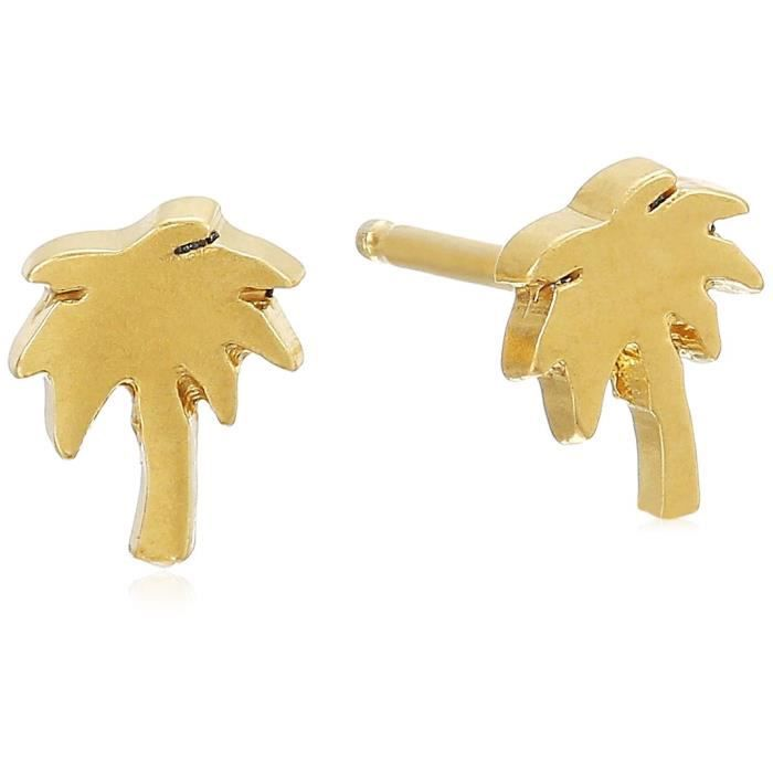Dogeared Its The Little Things, Smooth Palm Tree Stud Earrings F7HBY
