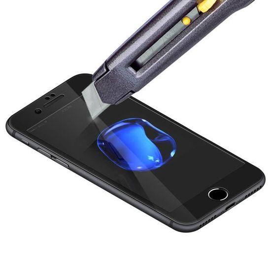 Film iPhone X XS Verre Trempé Ultra-résistant Anti-rayon bleu blanc Baseus