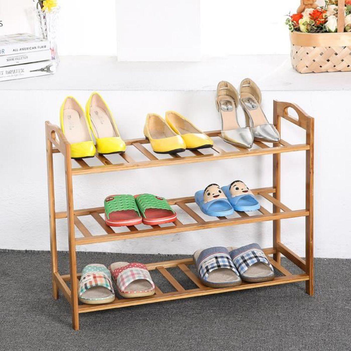Porte Chaussures En Bois meuble a chaussures bois massif