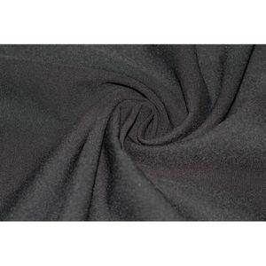 TISSU Tissu Burlington infroissable Uni Noir -Au Mètre