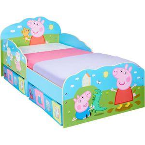 LIT COMBINE  PEPPA PIG - Lit enfant avec rangement 140*70 cm