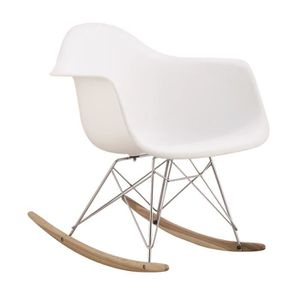 FAUTEUIL 1 x Fauteuil à Bascule Rocking Chair Design Inspir