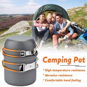 VAISSELLE CAMPING TEMPSA Set 2PCS Pot Pique-Nique Barbecue Vaisselle