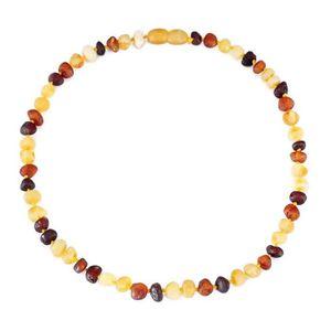 COLLIER AMBRE collier d ambre bebe(Multicolor Raw)(33cm) - Forfa