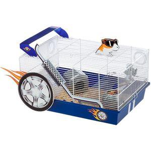 COUVRE-CAGE - PERCHOIR Ferplast cage pour hamsters DRAGSTER, maisonnette