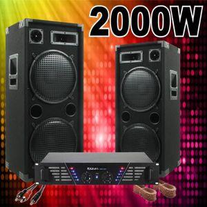 PACK SONO PACK SONO COMPLETE 2000W AVEC 2 ENCEINTES 1000W +