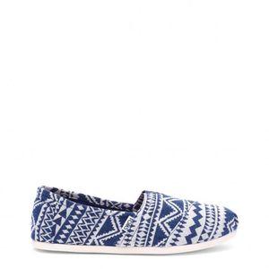 SLIP-ON TOMS Bleu Chaussures Slip-on Nouveau