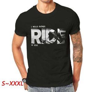 T-SHIRT Je voudrais plutôt monter mon vélo T-shirt Biker T