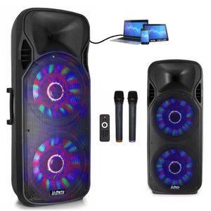 PACK SONO SONO Enceinte 1000W Mobile + LEDs + 2 Micros sans