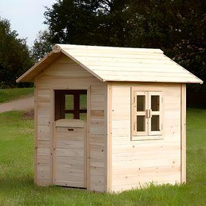 MAISONNETTE EXTÉRIEURE Maison en bois de cèdre Sunny Playhouse Noa fenêtr