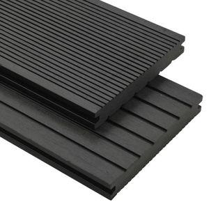 CLÔTURE - GRILLAGE Panneaux de terrasse avec accessoires WPC 10 m² 2,