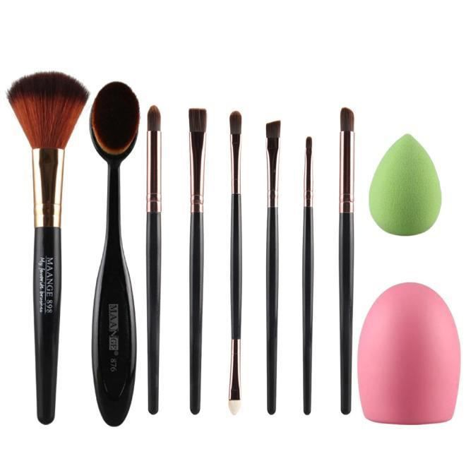 【Accessoires de nettoyage】10pcs pinceau de maquillage éponge de maquillage brosse de maquillage nettoyant fond de teint
