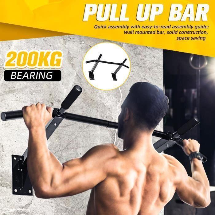 Barre de Traction à Montage Mural Tour de Puissance Entraînement Musculation Équipement de Fitness