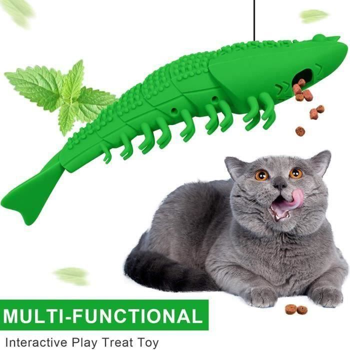 Jouet Chat Catnip Jouets Interactive Chat Brosse À Dents Jouet pour Chat Kitty Dents Nettoyage Soins Dentaires Écrevisse Forme Ani
