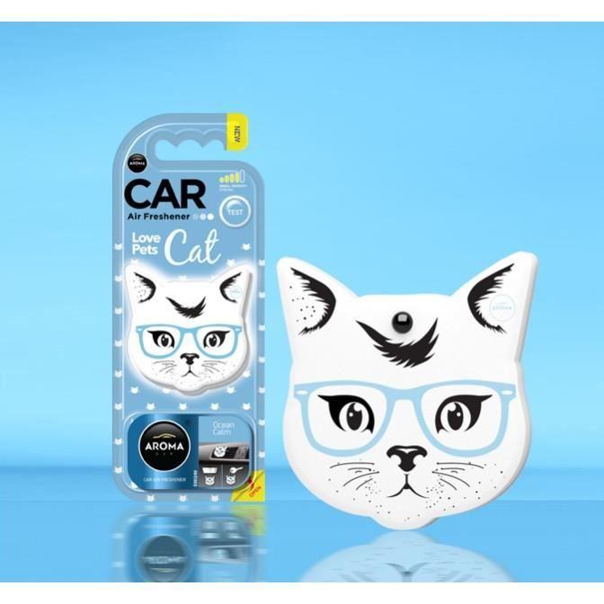 Parfum, Désodorisant Voiture Aroma Car Love Pets Chat Senteur Océan Calm