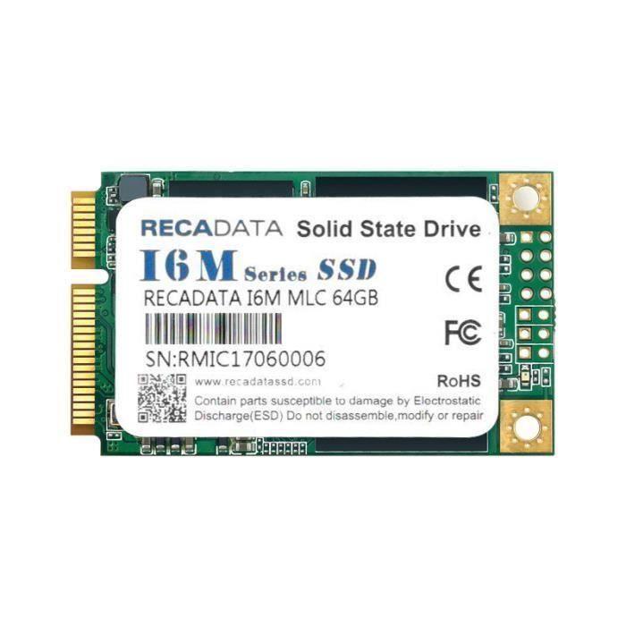 Disque Flash Interne SSD RECADATA MSATA III MLC Pour Mac OS Windows Vista 64 GO Top50673