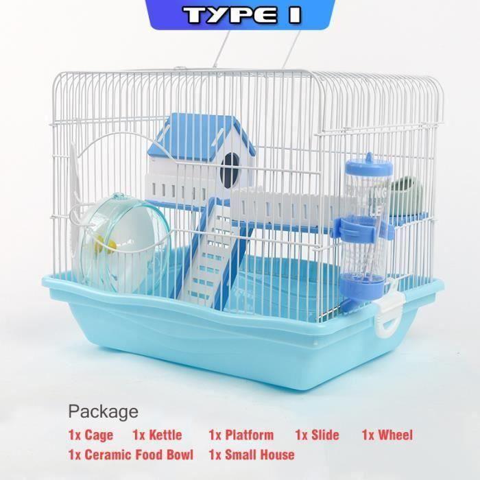 Hamster Cage Aver Bouilloire Petite Maison Plastique ROSE Type 1 Ve46007