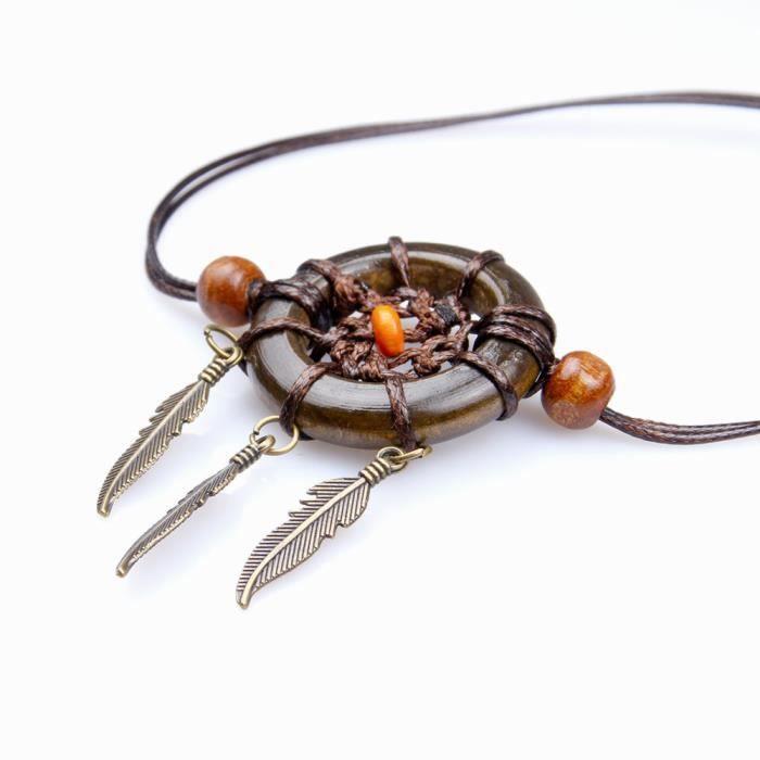 CARILLON A VENT - CARILLON EOLIEN,Mini anneau en bois de 3cm - Type orange #B