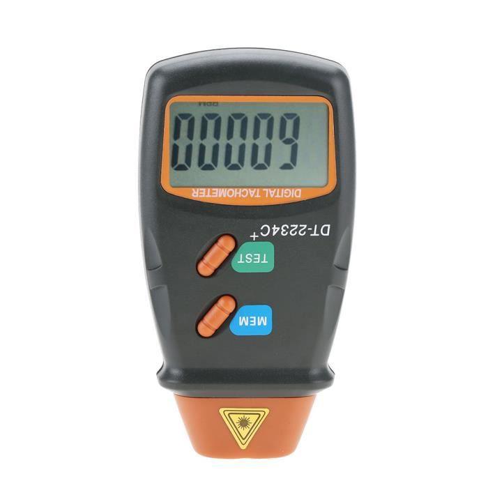 EBTOOLS Tachymètre DT-2234C + tachymètre photo laser LCD numérique sans contact Mini testeur de régime