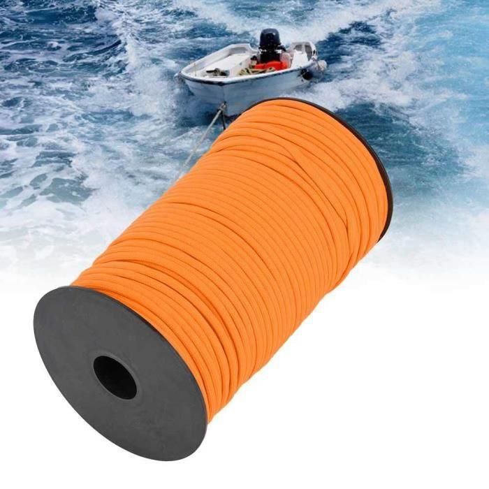 YOSOO Corde d'extérieur 100m 4mm Outdoor 7 Core Strand Core équipement de survie de corde d'escalade pour la randonnée (orange)
