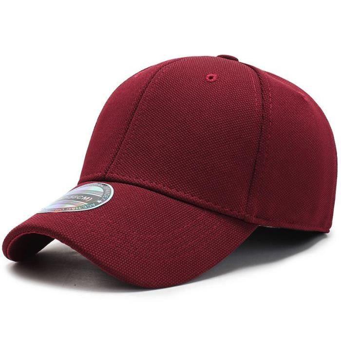 COKK Casquette de Baseball hommes casquettes casquettes hommes ajusté fermé Casquette complète femme Wine Red hat size 57-58cm