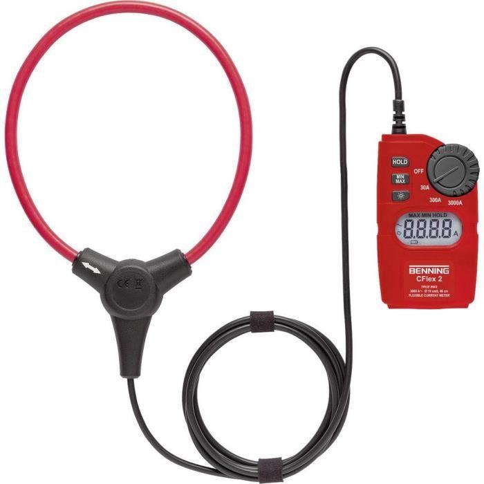 Pince ampèremétrique numérique Benning CFlex 2 CAT IV 600 V Affichage (nombre de points):3000