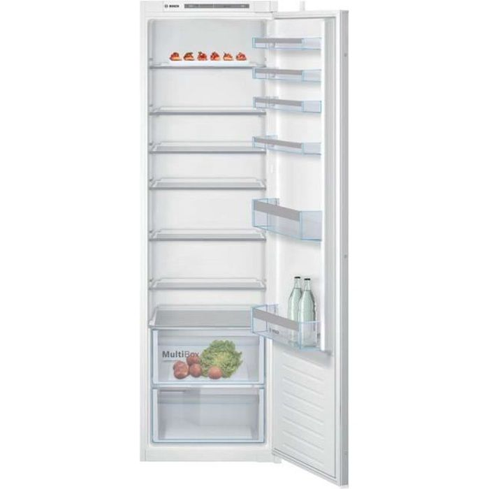 BOSCH KIR81VSF0 Réfrigérateur 1 porte intégrable - SER4 - Classe énergie A++ - 177x56cm - Blanc