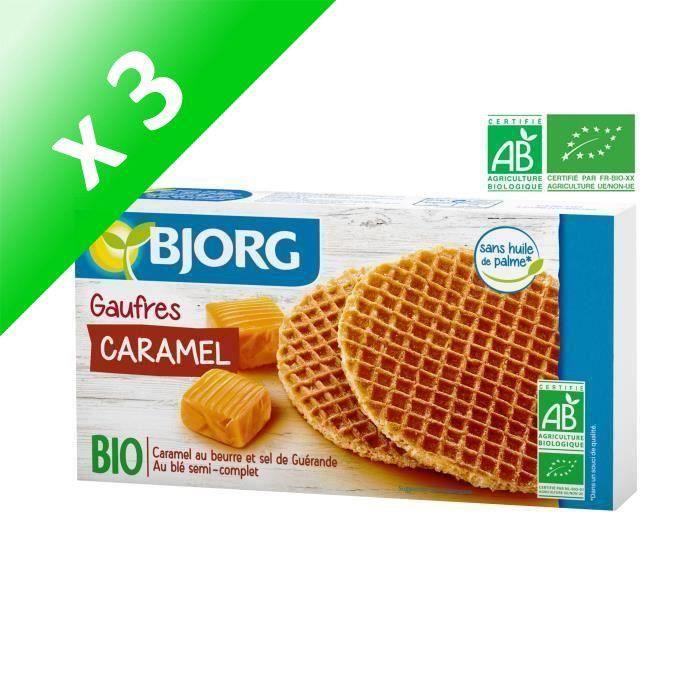 [LOT DE 3] BJORG Gaufres au Caramel Bio 175g