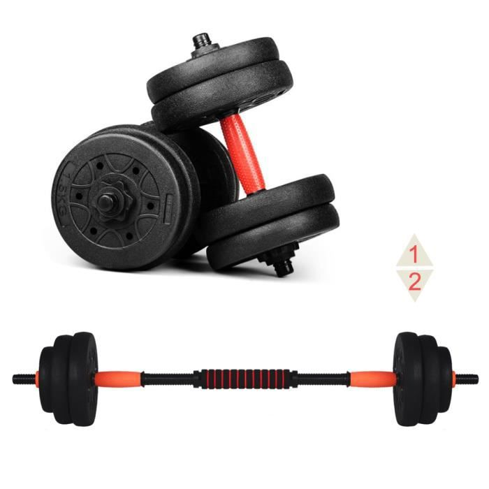 Ensemble d'haltères musculation réglable HB020