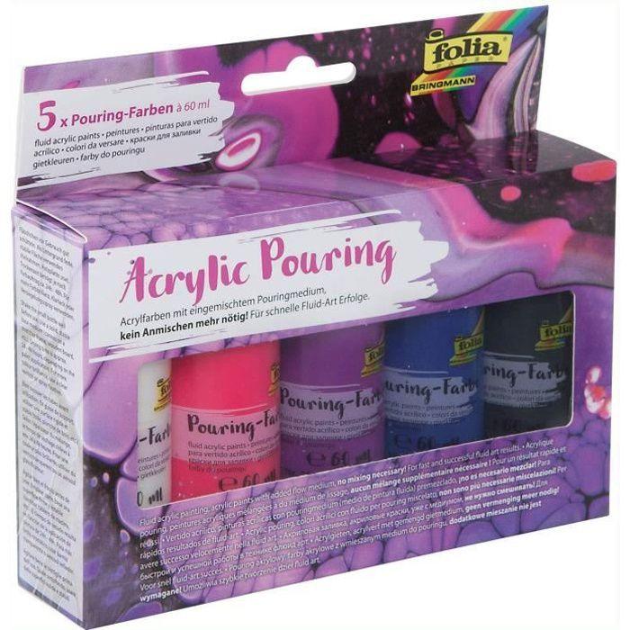 Peinture acrylique pour pouring INTENSE, assorti