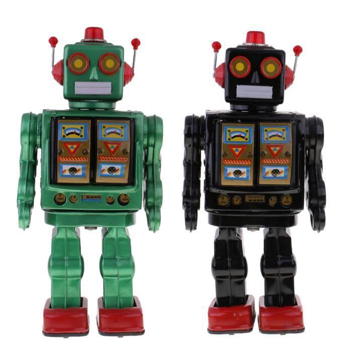 ROBOT MINIATURE - PERSONNAGE MINIATURE - ANIMAL ANIME MINIATURE 2x robot électronique