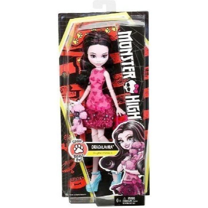 MATTEL Monster High-goules Beast Pet-draculaura XNLXB