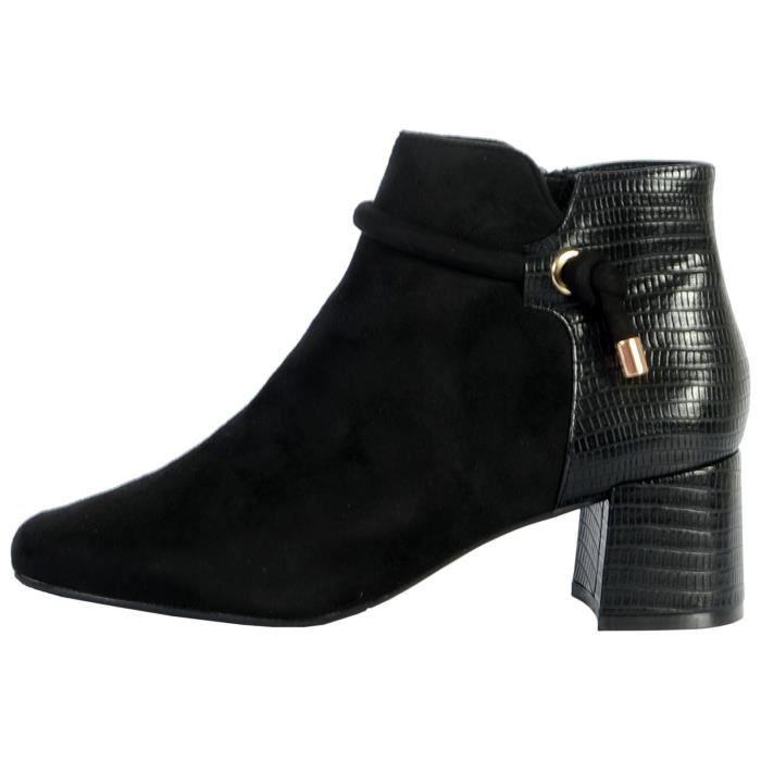 Boots The Divine Factory QL4052 Noir Femme