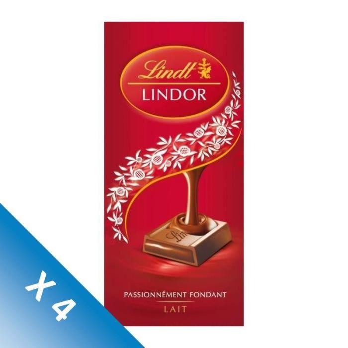 [LOT DE 4] LINDT Lindor passionnément fondant lait - 150 g