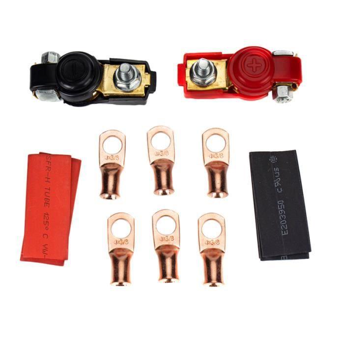 1 ensemble pince de batterie connecteur négatif positif de borne de pour voiture de véhicule automatique PACK CAR AUDIO