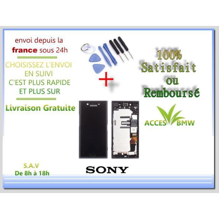 Ecran Complet LCD Noir avec Chassis Frame Pour Sony XZ premium et Outils