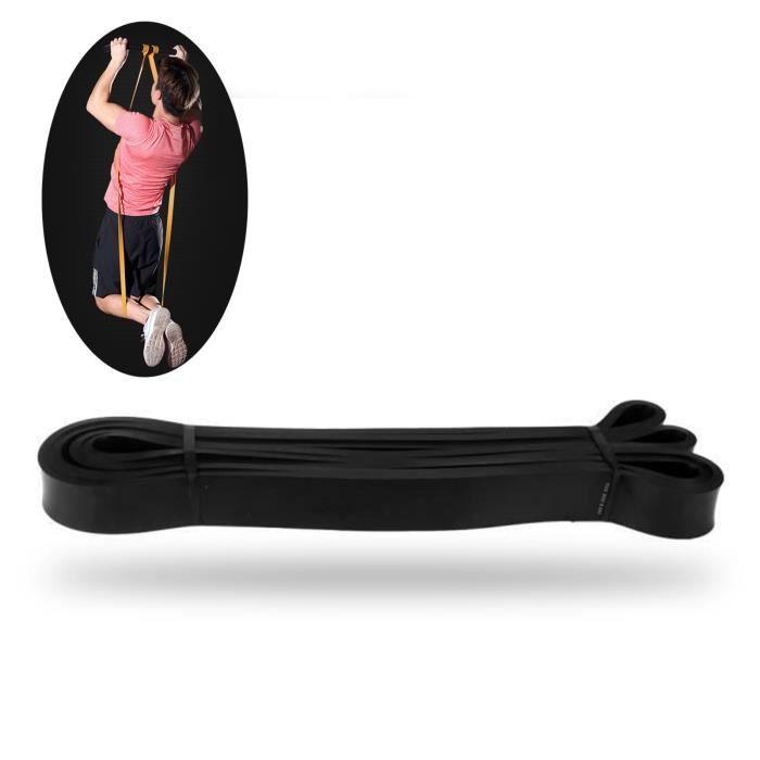 TD® Bande Élastique Cross-fit - Harnais de résistance- Bande de latex Body gym Extenseur- Entraînement fitness Multifonction Noire