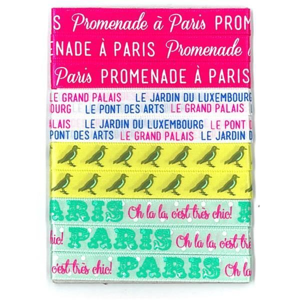 TOGA Lot de 4 rubans paris - satin - 90 cm