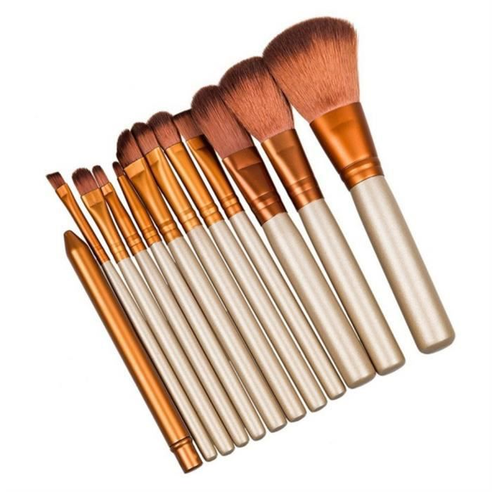 12pcs Pinceaux Maquillage Cosmétique Professionnel