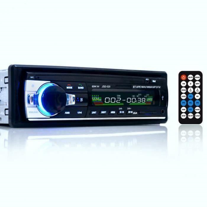 Zerone 4 /× 60 W Autoradio Single DIN pour Voiture Lecteur st/ér/éo Bluetooth MP5 Mains Libres st/ér/éo pour Voiture Support MP3//MP5//USB /Écran LCD avec t/él/écommande