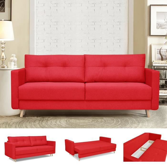 canape design rouge achat vente canape design rouge pas cher cdiscount. Black Bedroom Furniture Sets. Home Design Ideas
