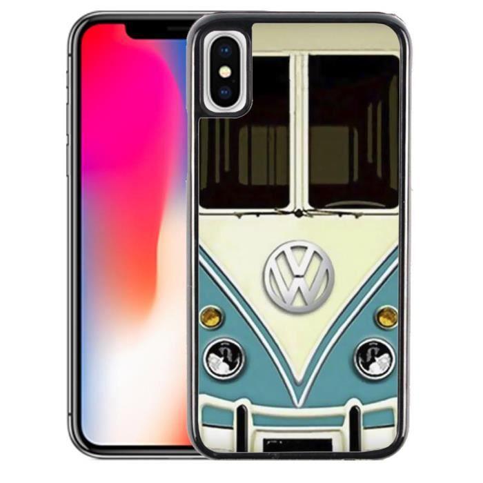 Coque iPhone X Combi Van Volkswagen VW