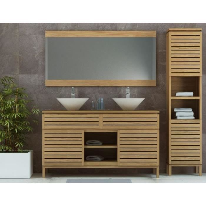 meuble de salle de bain diva 140 en teck achat vente. Black Bedroom Furniture Sets. Home Design Ideas